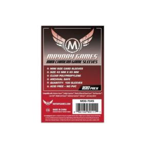 """Протекторы для настольных игр Mayday """"Mini Chimera Game"""" (43x65) - 100 штук"""