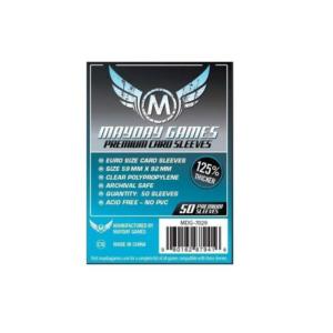 """Протекторы для настольных игр Mayday Premium """"Euro Card"""" (59×92) – 50 штук"""