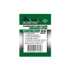 Протекторы Премиум Pantheon Sleeves Standart Card Game Hermes Epic 63.5 x 88 mm 55 шт.