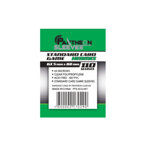 Протекторы Стандарт Pantheon Sleeves Standart Card Game Hermes 63.5 x 88 mm 110 шт.