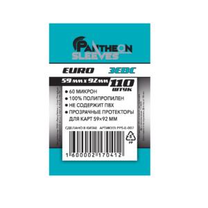 Протекторы Стандарт Pantheon Sleeves Euro Зевс 59 x 92 mm 110 шт.